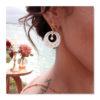 boucles d'oreilles nacre