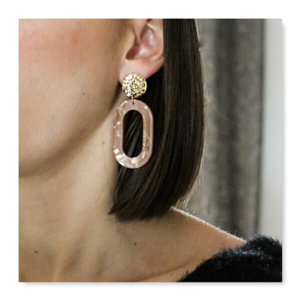 boucles d'oreilles résine