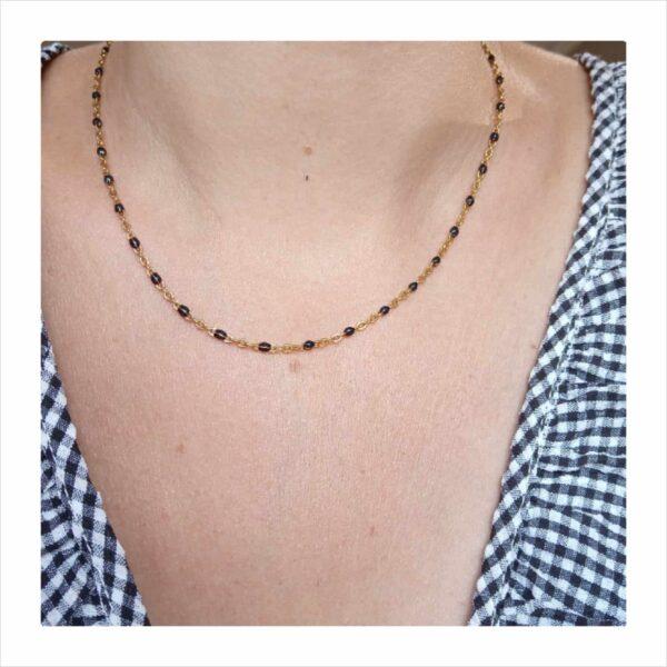 collier chaine perles